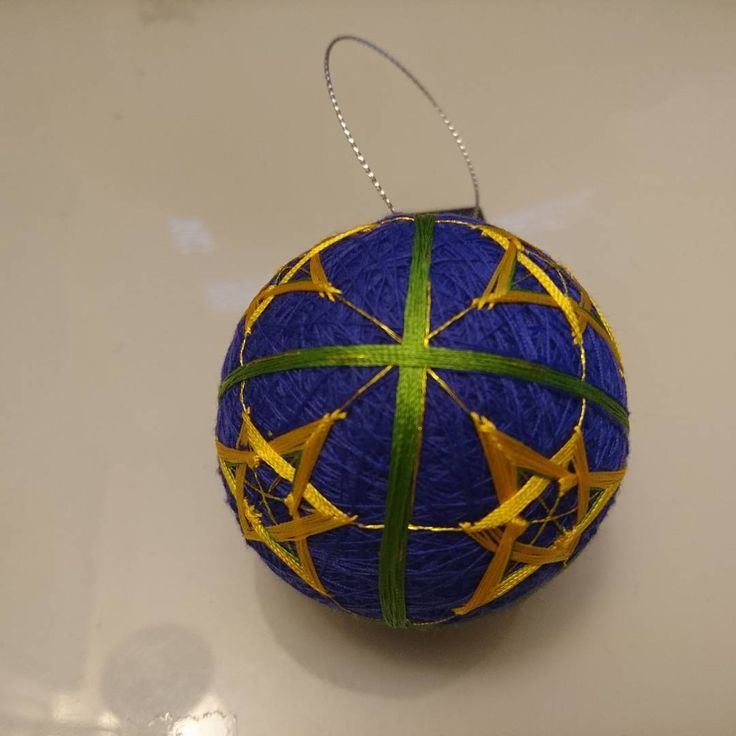 """2 Likes, 2 Comments - Raluca Ioana Simonffy (@ralucamorena) on Instagram: """"#purple and #yellow with #green accents #temari I just finished. #misscraftysgoodies"""""""