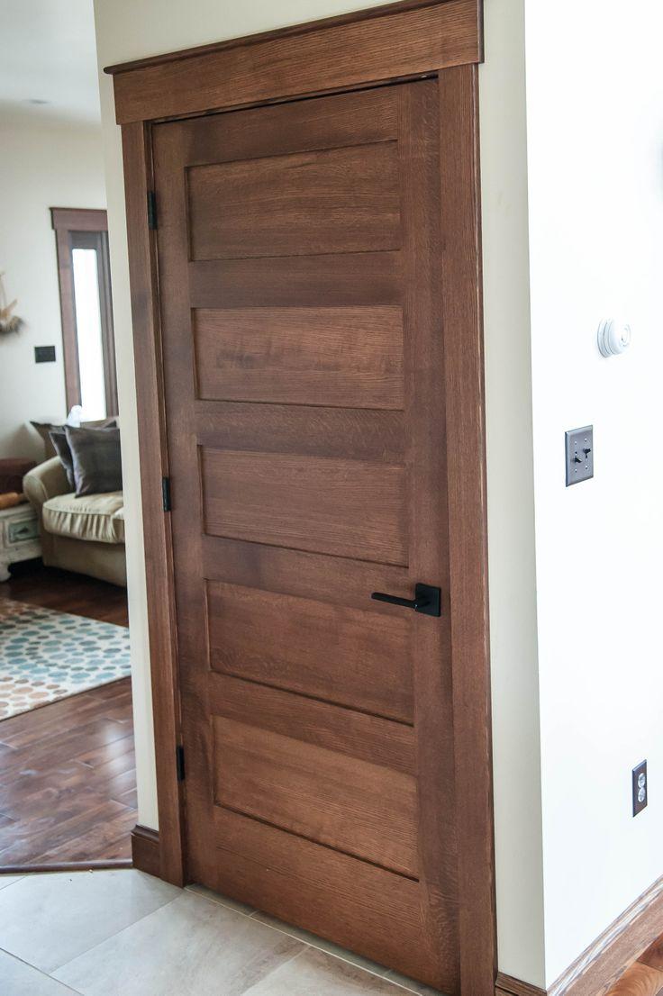 Panel quarter sawn white oak interior door craftsman interior doors - Custom Solid Quarter Sawn Oak Interior Door