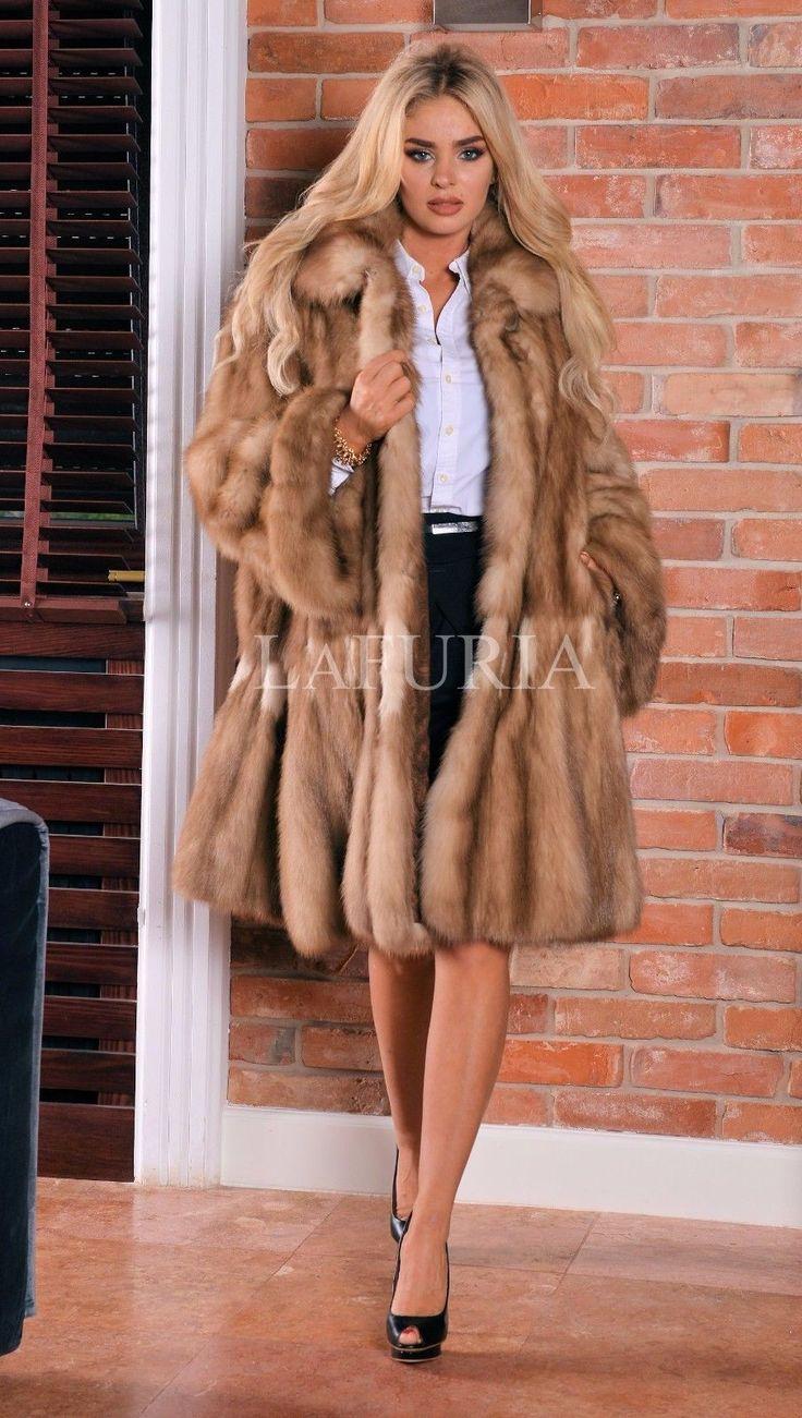 MARTEN FUR SWINGER COAT CLASS OF RUSSIAN SABLE CHINCHILLA FOX JACKET MINK PONCHO | eBay