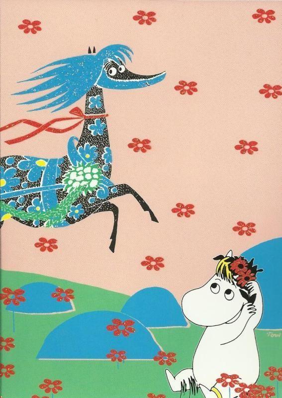Snorkmaiden & Primadonna Horse #childrensillustration #Moomin