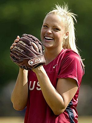 Jennie Finch, Shes so amazing, super pretty and amazing at pitching! I would love to meet her some day(: