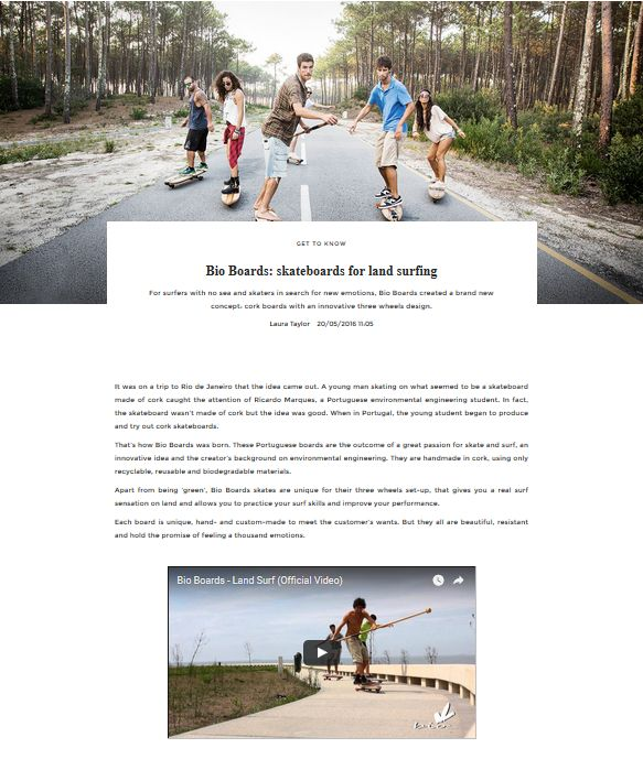 Bio Boards: skateboards for land surfing | UNIKSTORE Blog