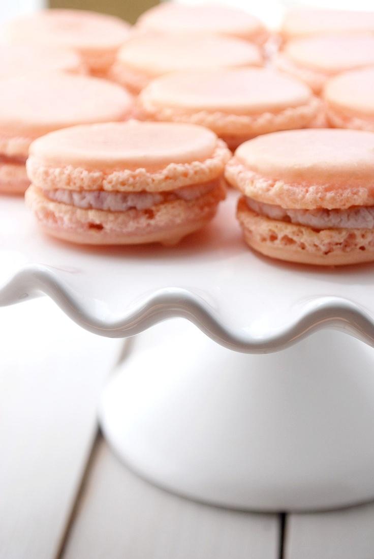 Raspberry Mascarpone Macarons Recipe | Cake and Allie