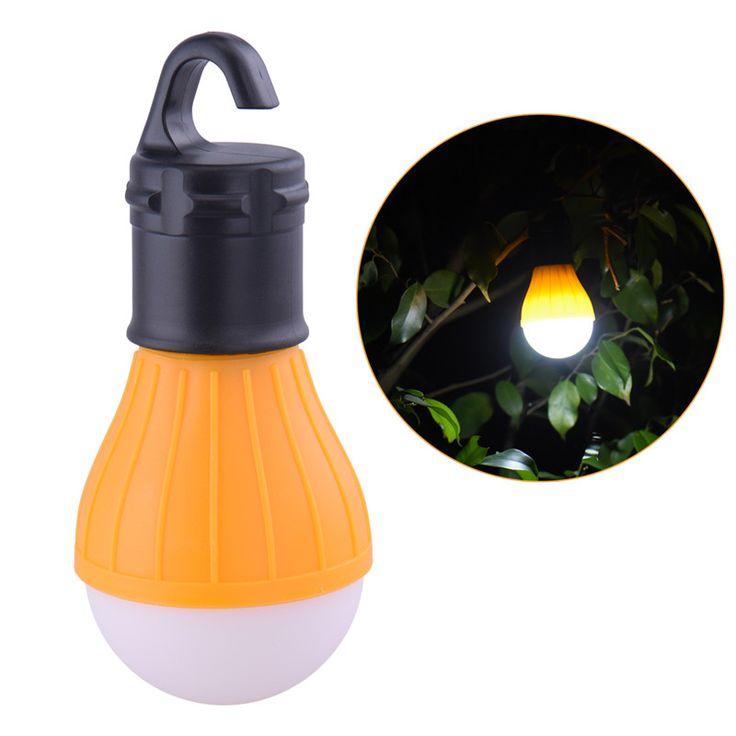Outdoor LED Camping Lantaarn Draagbare Opknoping Handig Kamp Lichten Gebruik AAA Batterij Voor Vissen Tent Gloeilamp Drop Verzending