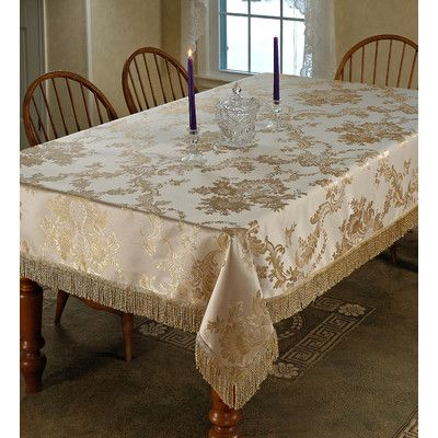 Violet Linen Majestic Damask Tablecloth