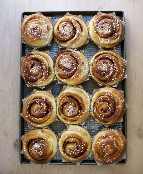 Swedish Cinnamon Buns - My grandmother made cinnamon bread and rolls. These sure look like them.