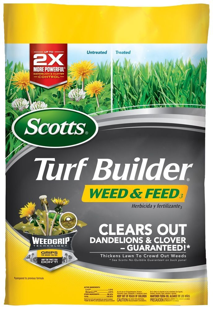 Scotts Turf Builder Weed and Feed Fertilizer 5M - FREE SHIPPING #Scotts