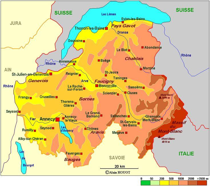 Haute-Savoie | Haute savoie, Cruseilles, Savoie carte
