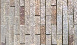 Gnejs łupany formatowany czterostronnie szaro-rudy z brązem
