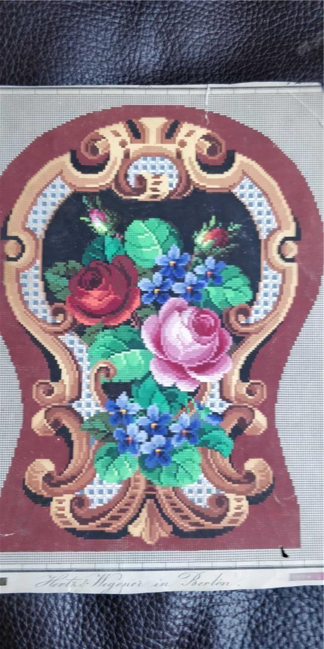 Старинная оригинальная большая ручная роспись Берлин woolwork узор Вегенера и Герц   eBay