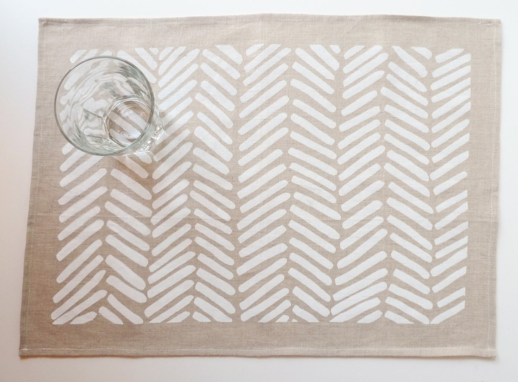 Linen Chevron Tea Towel. $20.00, via Etsy.
