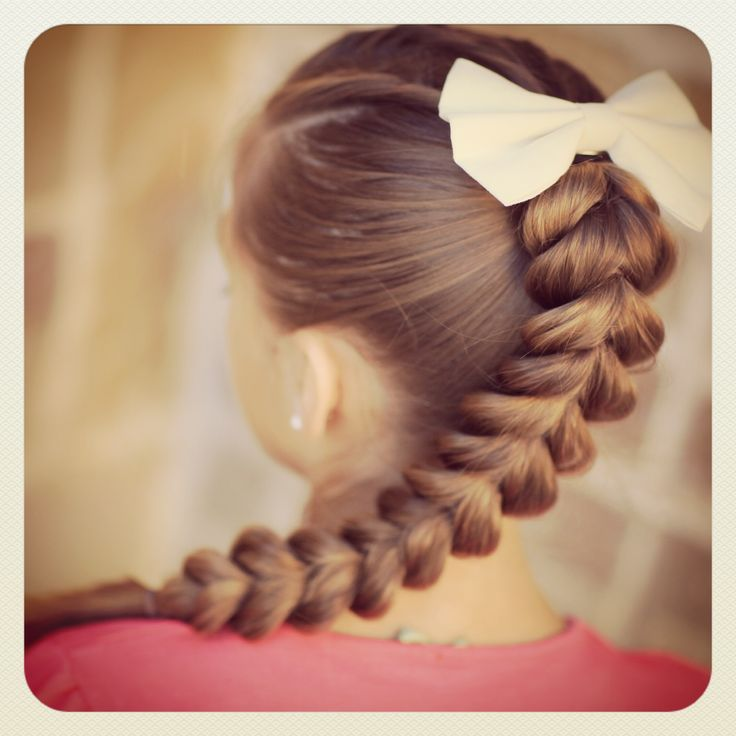 strange hair styles | Plus, this Pull-Through Braid is so easy, even a daddy can do it ...