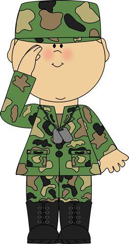 Soldier Saluting Clip Art - Soldier Saluting Image