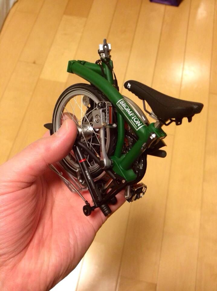 Brompton Miniature - For more great pics, follow www.bikeengines.com