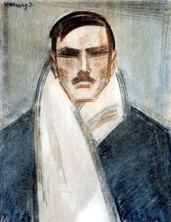 Vaszary - Self-portrait with White Scarf c. 1928. Title says it all.
