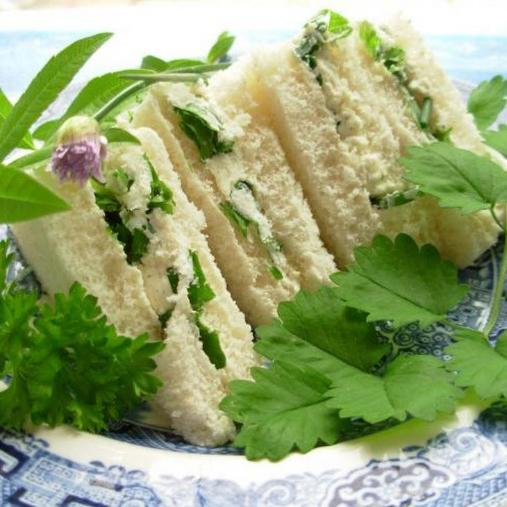 Herb Cheese Tea Sandwiches Recipe | Picnic Food Ideas | Pinterest ...