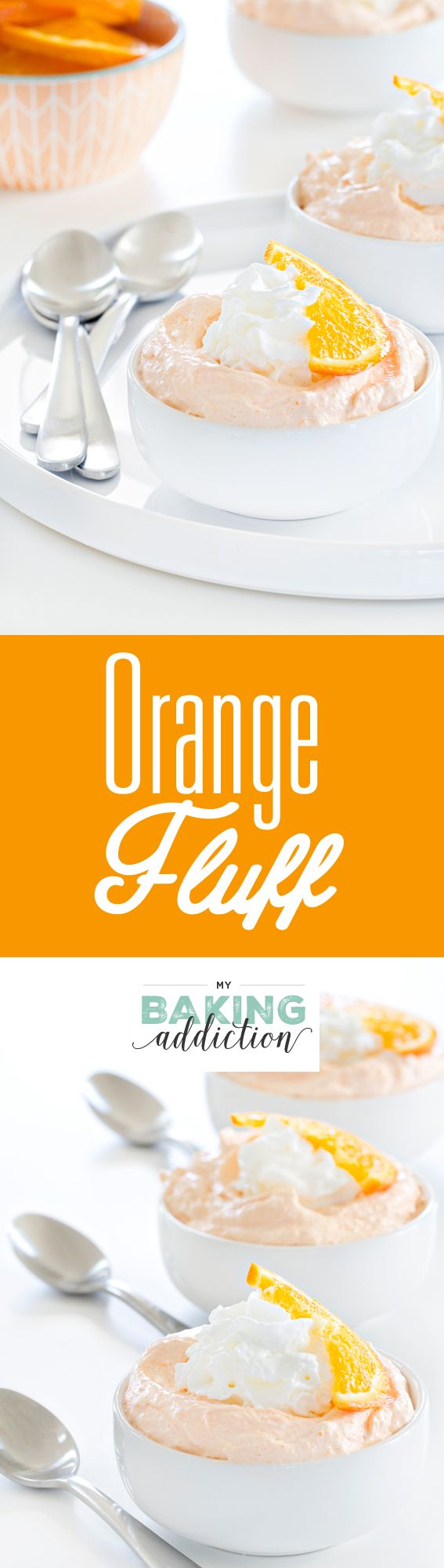Orange Fluff comes together in a matter of minutes to create a dreamy, fluffy dessert that is great for just about any occasion.