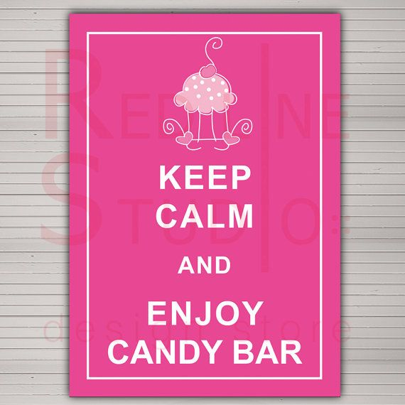PRINTABLE Custom Candy Bar Wedding Sign Keep Calm and by redlinecs, €8.00