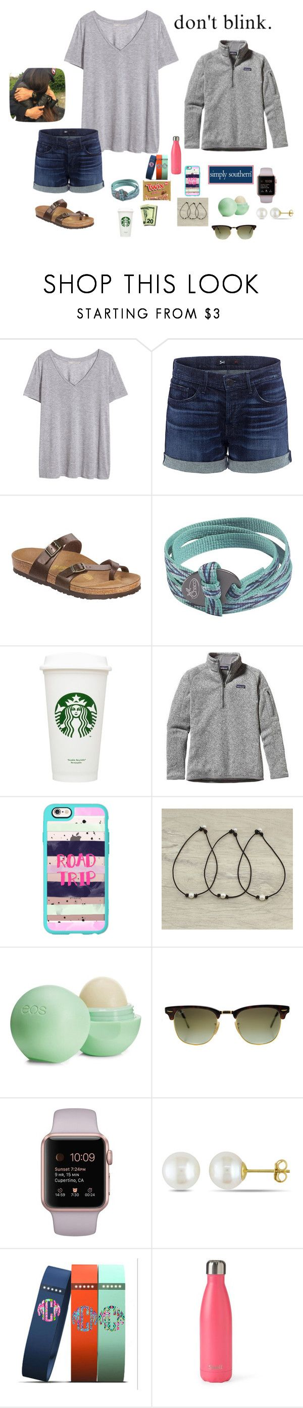 """Football game tonight! GO PIRATES 🔴⚪️🔵"" by mackenzielacy814 ❤ liked on Polyvore featuring H&M, 3x1, Birkenstock, Chaco, Patagonia, Casetify, Eos, Ray-Ban, Miadora and S'well"