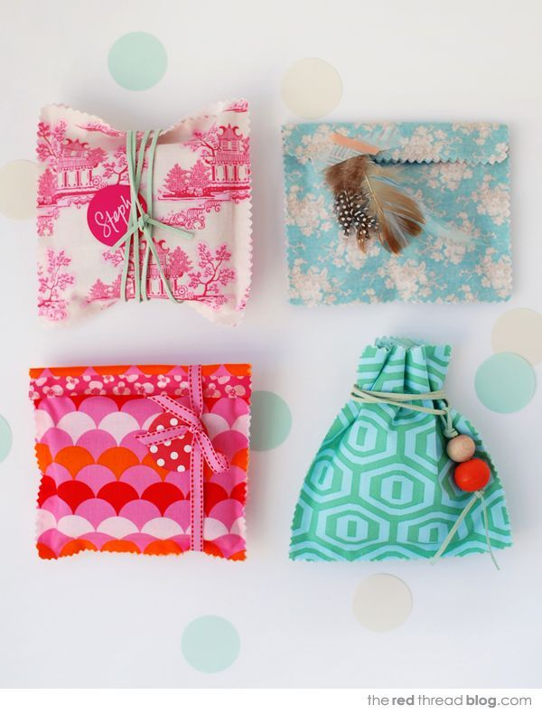 TUTORIAL :: make gorgeous no-sew fabric gift bags