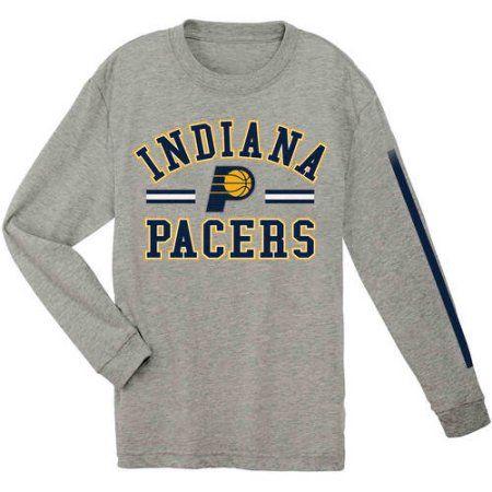 NBA Indiana Pacers Youth Team Long Sleeve Tee, Boy's, Size: Medium, Gray