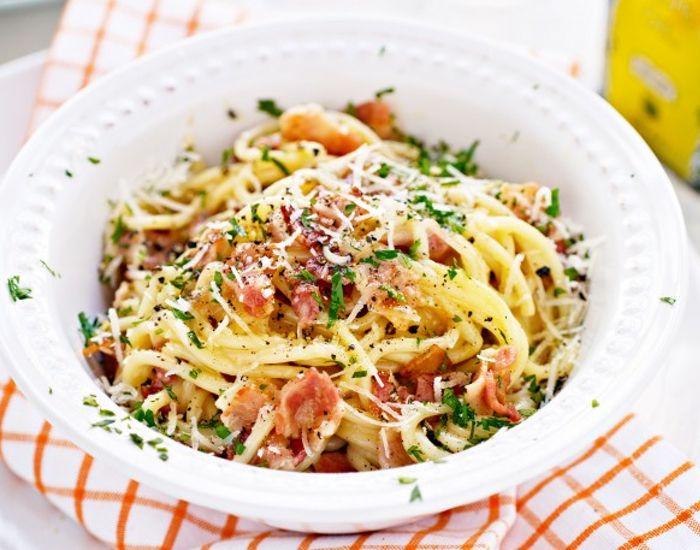 Smagen af Italien: Spaghetti a la carbonara