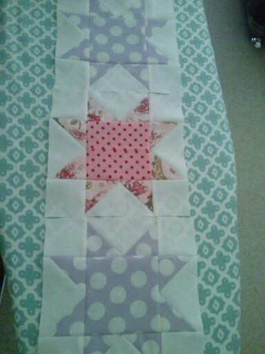 Part of a baby quilt we all worked on.