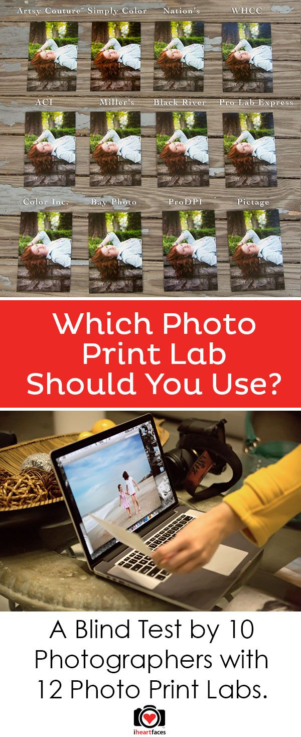 Photography Tips - An Online Photo Print Lab Comparison by 10 photographers. Which photo lab should you use? You won't believe which one we think is the best! iHeartFaces.com