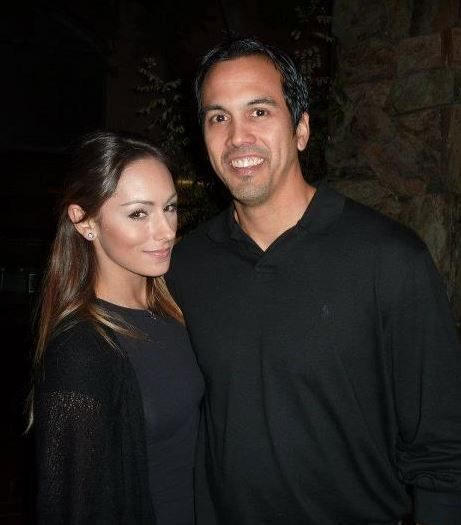 Miami Heat's Coach Erik Spoelstra and his younger girlfriend Nikki Sapp who is a former Miami Heat cheerleader, they got engaged in the summer of 2015. #miamiheat #nbawags #erikspoelstra #nikkisapp