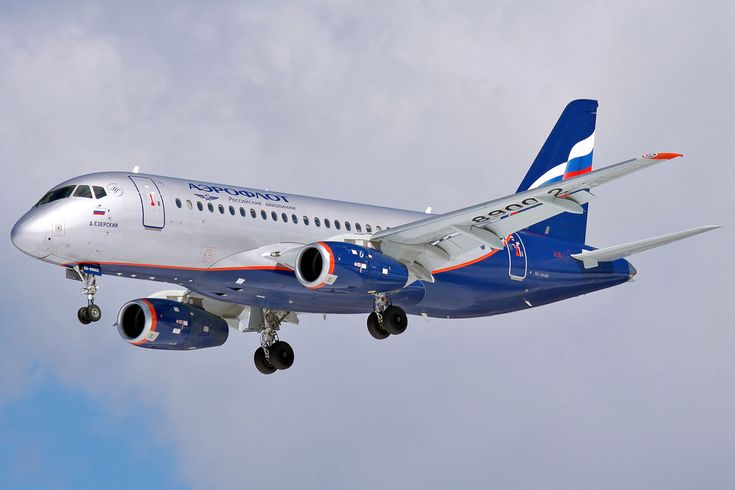 aeroflot russian airlines corporate visual design graphic identity - Sukhoi Superjet 100-95