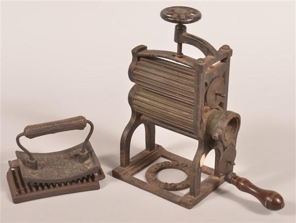 Two Antique Fluting Irons. - Price Estimate: $50 - $150