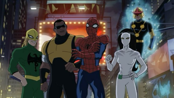 Marvel's Ultimate Spider-Man: Iron Fist/Iron Fist, Power Man/Luke Cage, Spider-Man/Peter Parker, White Tiger/Ava Ayala and Nova/Sam Alexander