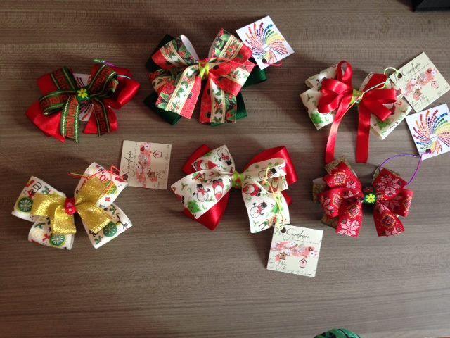 Moños navideños. #Moños #Navidad #2014