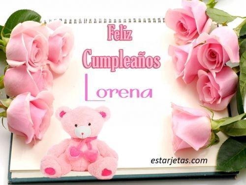 Felíz cumpleaños Lorena 2 | imágenes grandes de Estarjetas.com