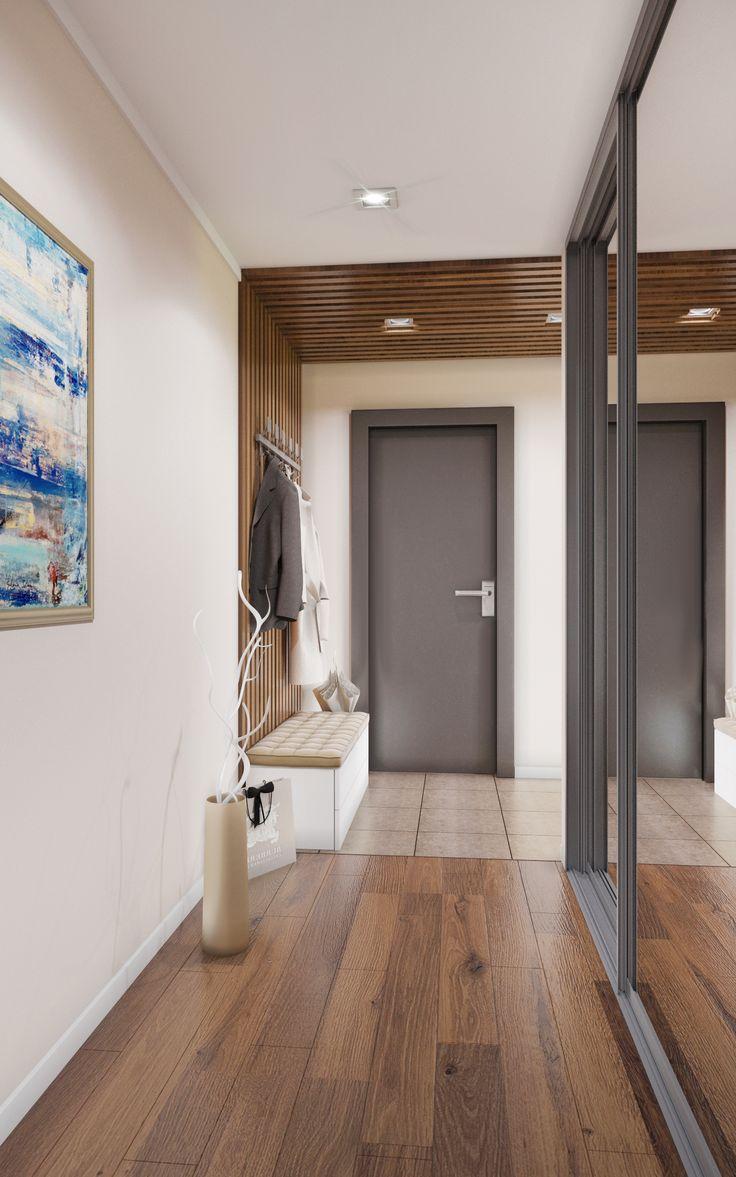 #прихожая #коридор #дизайн #деревянныепанели #шкафкупе #design