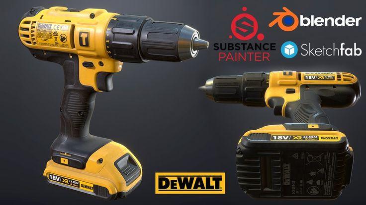 Texturing DeWalt Drill driver in Substance Painter 2
