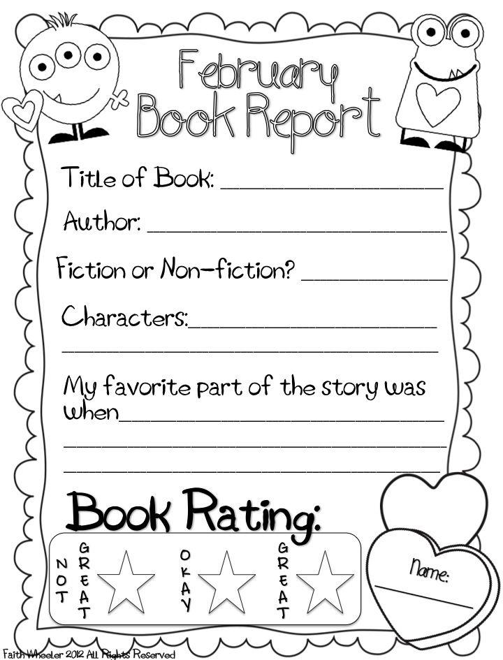 Printable Book Report Forms - cv01billybullock - printable book review template