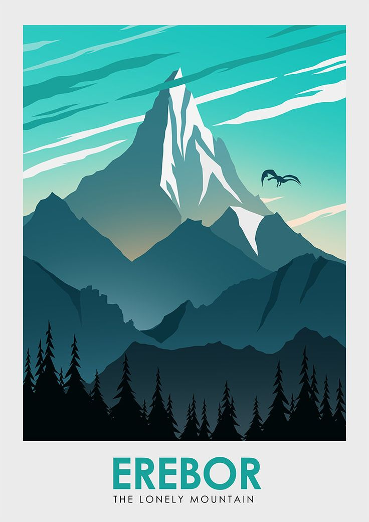 Lord of the Rings: Middle Earth Travel Poster Set - Created by Ciaran MonaghanPrints available for sale at his Etsy Shop.