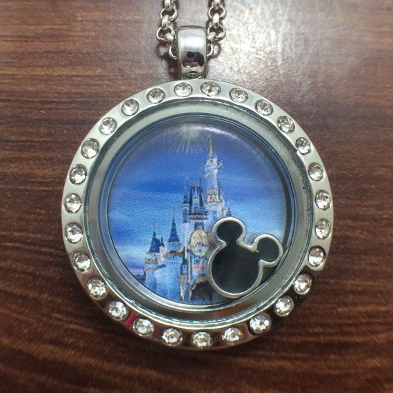 Disney World/Disney Land Themed Medium Floating Charm Locket - 25mm $17