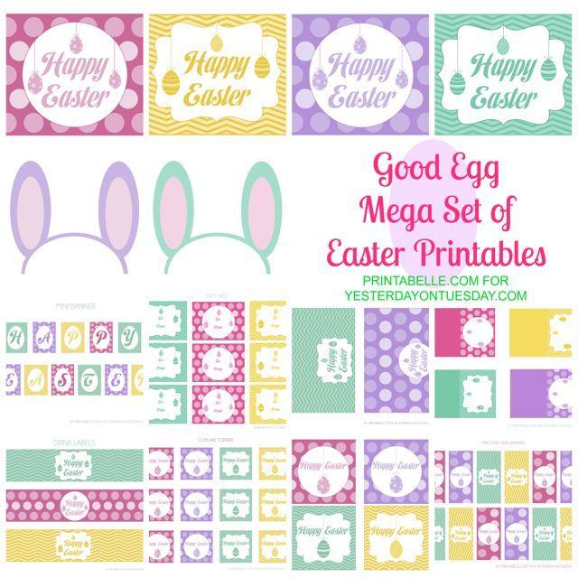 Free set of Easter printables