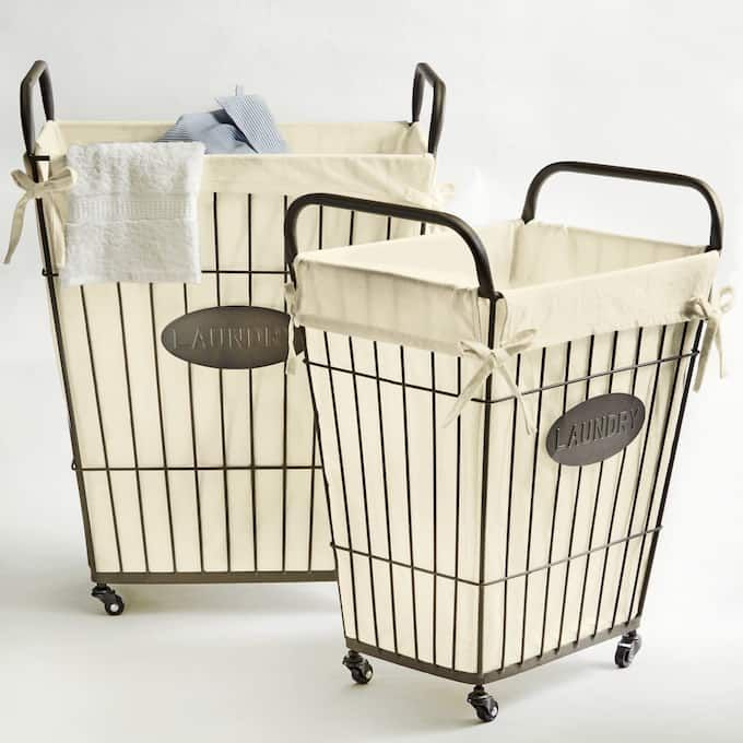 Set Of 2 Wire Laundry Baskets Wire Laundry Basket Laundry