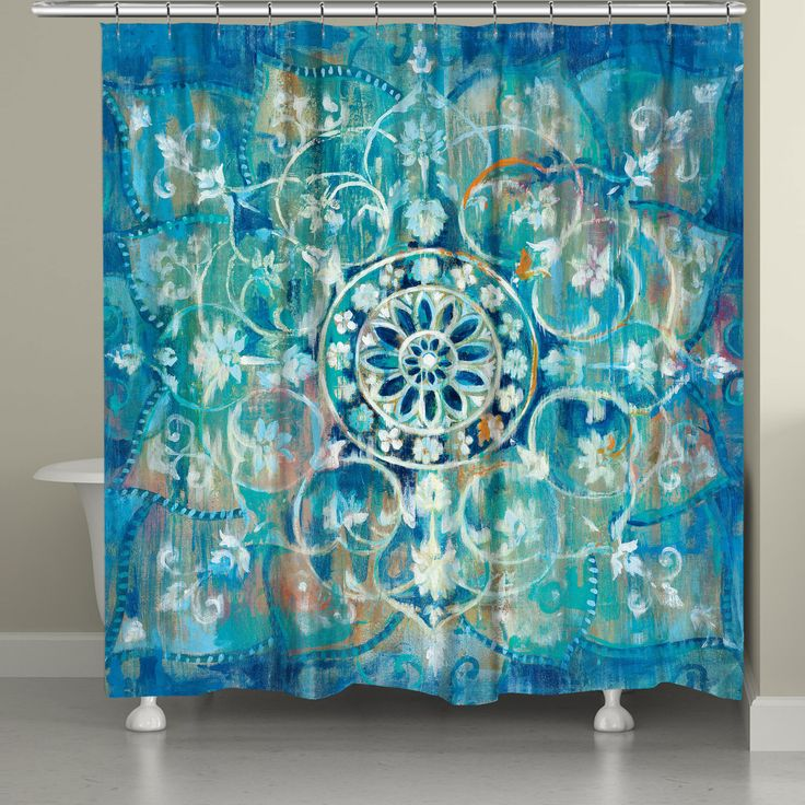 This bohemian mandala will transform your bathroom into an eclectic oasis. All…