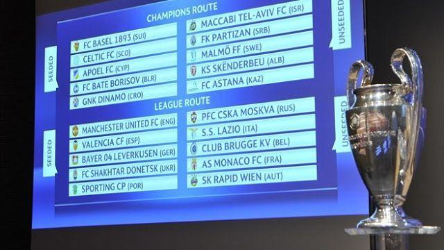 RADIO CORAZÓN  DEPORTIVO: UEFA CHAMPIONS LEGUE[SORTEO PLAY-OFFS]: RIVAL EXIG...