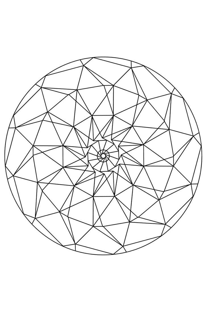 Mandala Eye - as template for embroidery