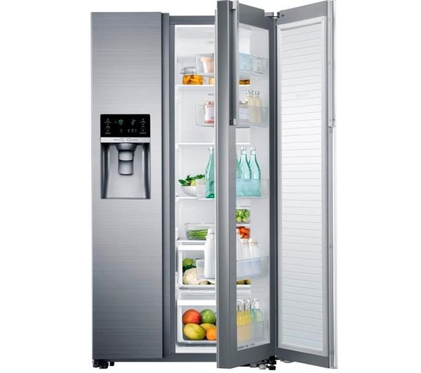 Buy SAMSUNG RH57H8030SL/EU American-Style Fridge Freezer - Stainless Steel | Free Delivery | Currys
