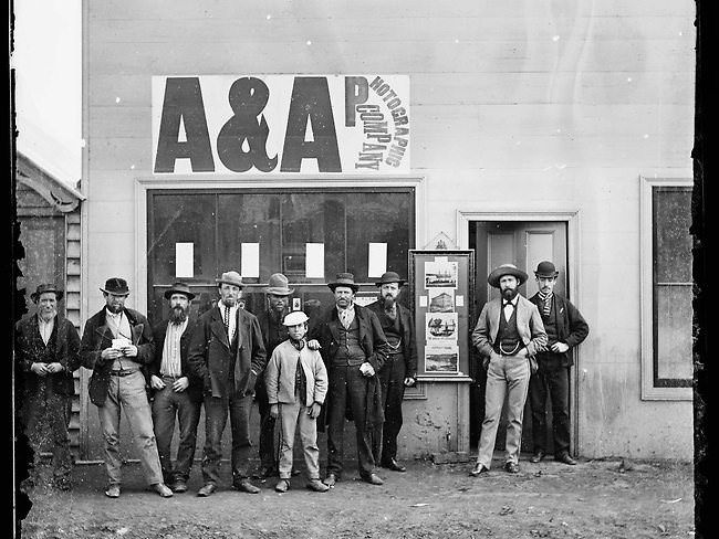 Gold rush (5)Check out these old back-and-white photos of Australia during the 1870 gold rush. These mostly show the town's inhabitants standing proudly in the dusty town or right in front of their establishments — like a butcher shop and an undertaker's shop — and staring right into the lens. The pictures are beautifully lit, and they perfectly capture an era long gone.