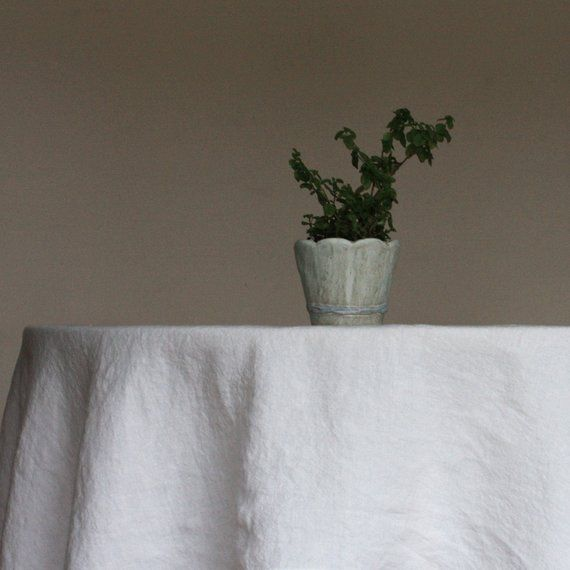 Linen tablecloths are made from Lithuanian linen (flax