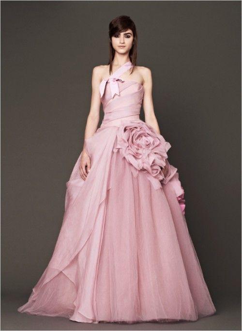 Vera Wang 2014 Pink Wedding Gowns | Weddingomania