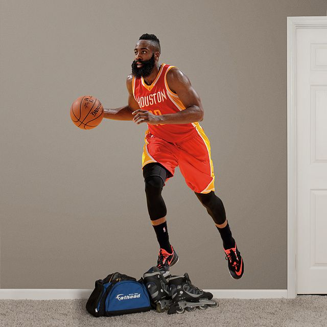 Fathead – Peel & Stick Wall Graphic | Houston Rockets Wall Decal | Sports  Home Decor | ReNzEL | Pinterest | James harden and NBA