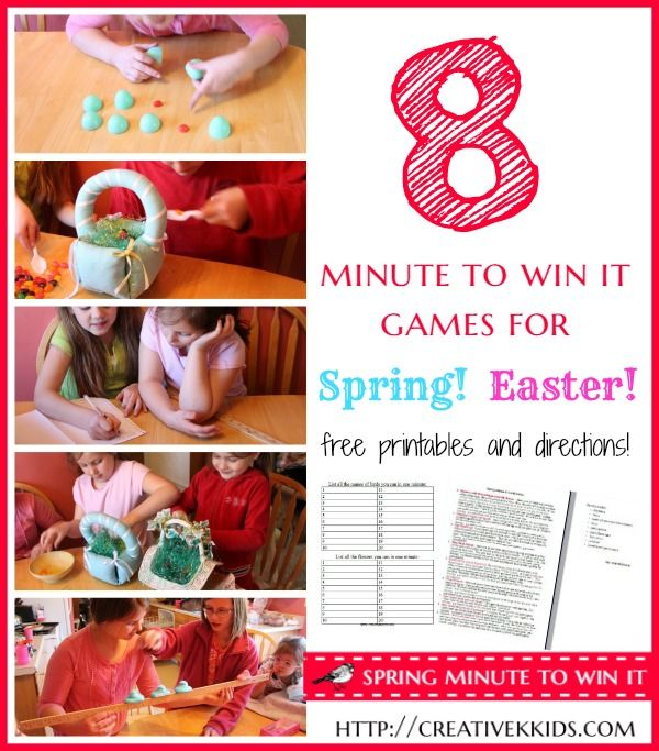 Sunday School Christmas Party Games: Spring (or Easter) Minute To Win It Games
